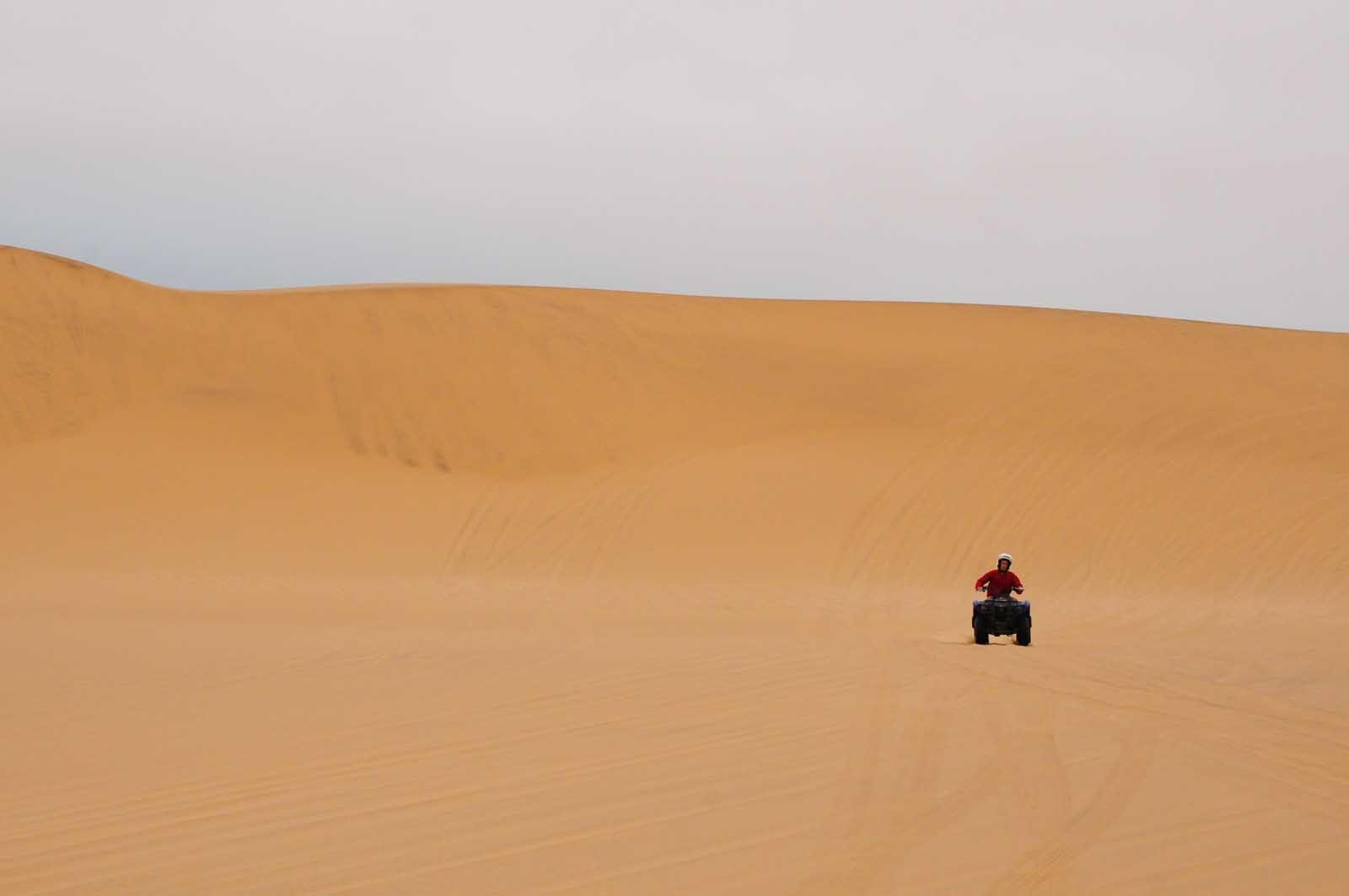 Quad dans les dunes à Swakopmund