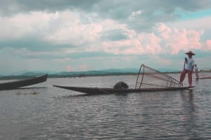 Pêcheurs sur le lac