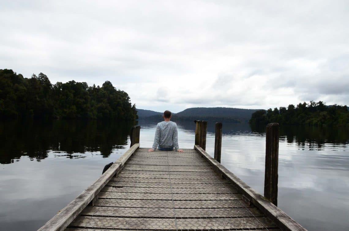 Pause au bord du lac Nouvelle Zélande