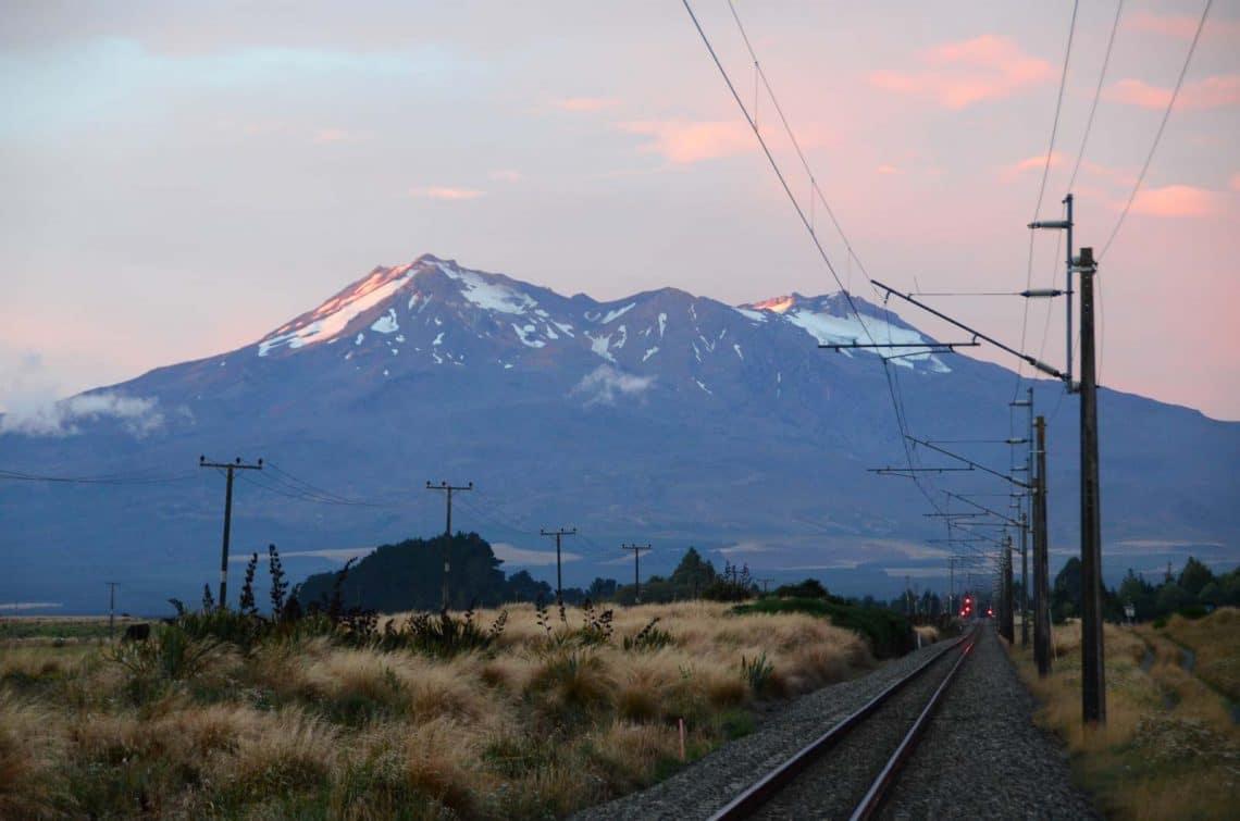 Coucher de soleil à Tongariro Nouvelle Zélande