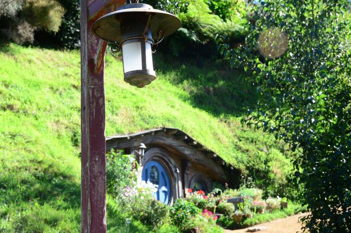 Maison de Hobbit à Hobbiton Nouvelle Zélande