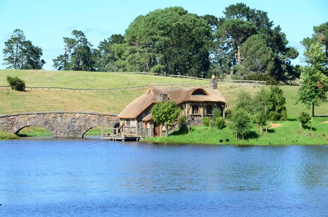 Moulin à Hobbiton Nouvelle Zélande