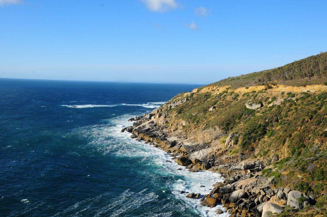 Route du Cap vers la plage