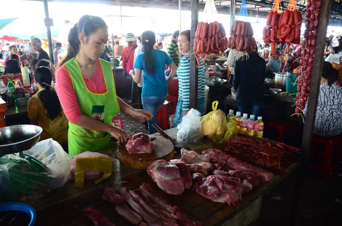 Viande au marché