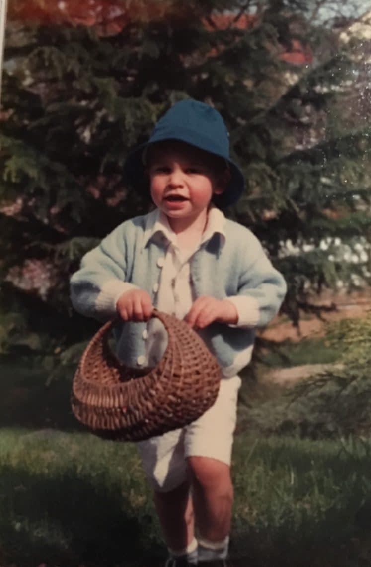 Récolte des oeufs de Pâques à 3 ans