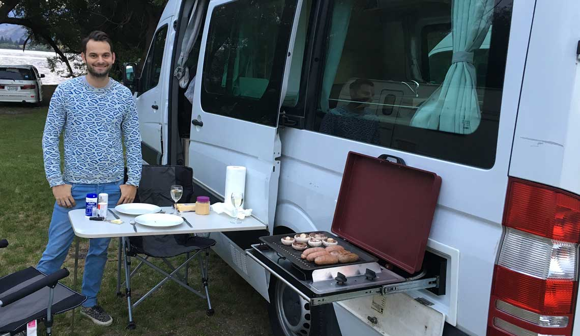 Barbecue et camper en Nouvelle Zélande
