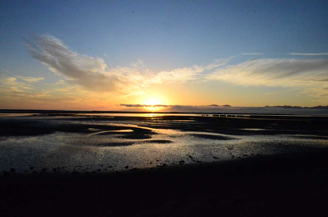 Motueka saltwater baths sunset