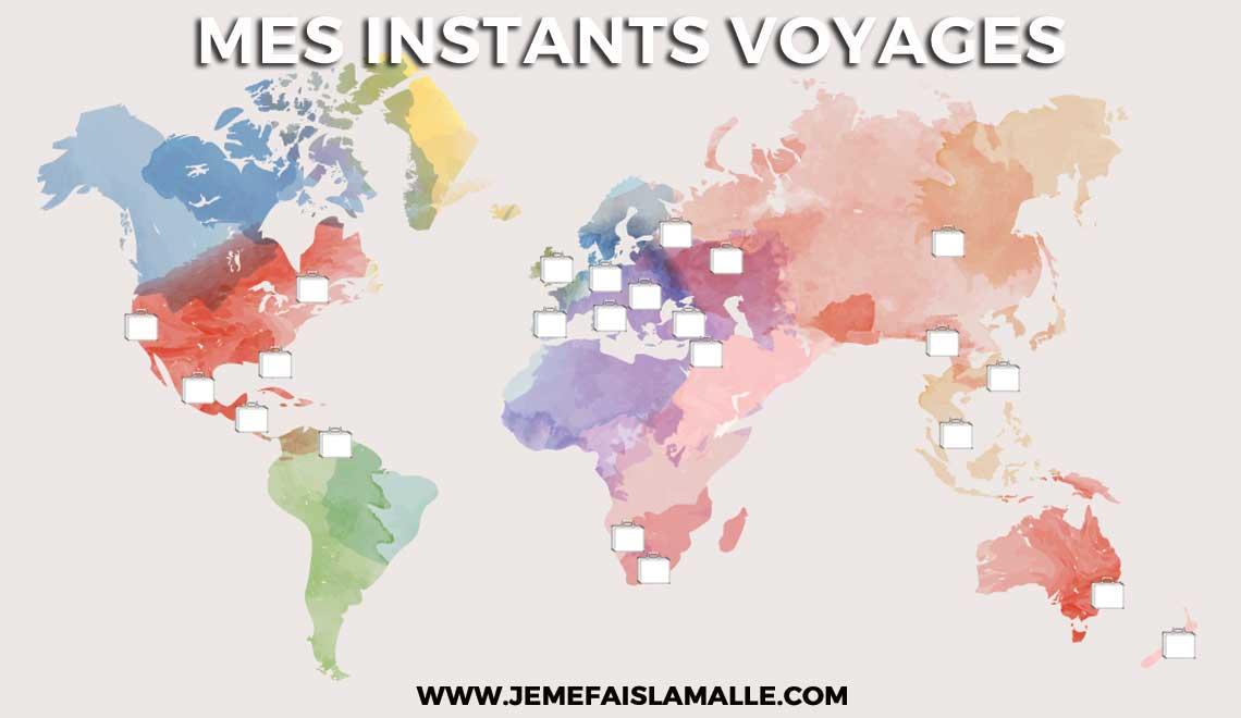 La carte de mes voyages