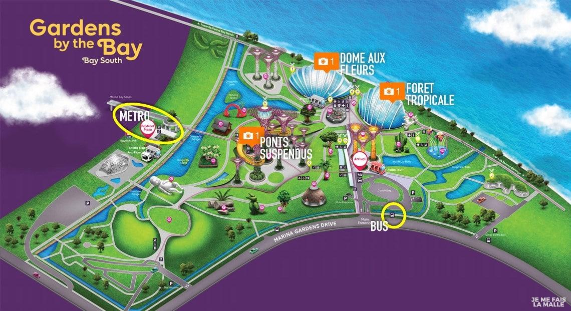 Plan Gardens by the Bay - à voir