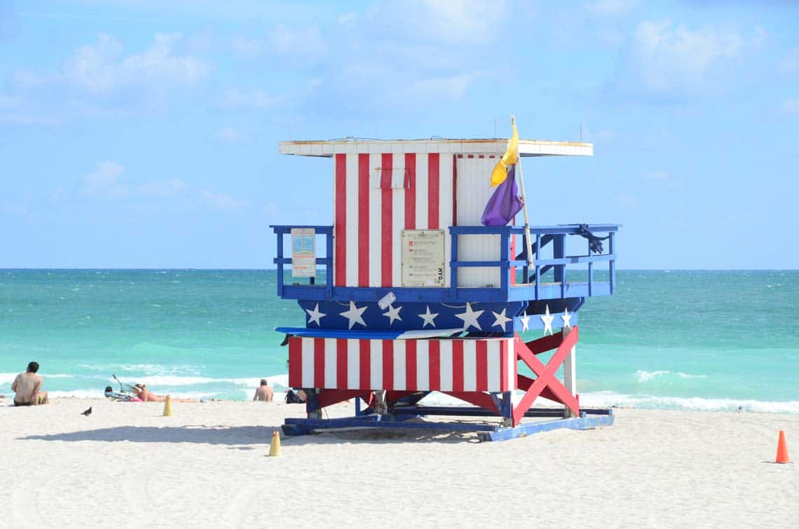 Cabane de lifeguard à Miami Beach