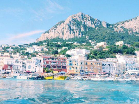 Fondre pour le bleu de Capri, Italie